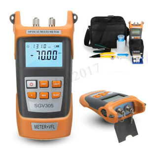 Ftth Tool Kit Visible Fiber Optic Fault Locator Power Meter Tester Cleaver
