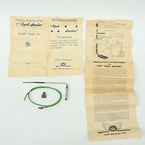 Rare Vintage 1940s Car Truck Accessory Carburetor Gas Spot Heater Ghk Products