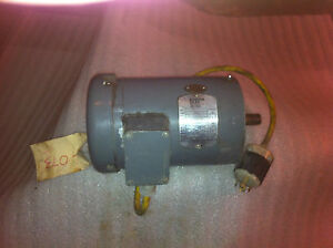 Boston Gear Model 35j73 87 1 Hp 3 Phase 143tc Frame Motor