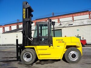 Hyster H280xl 28 000lbs Forklift Boom Truck Side Shift Enclosed Cab
