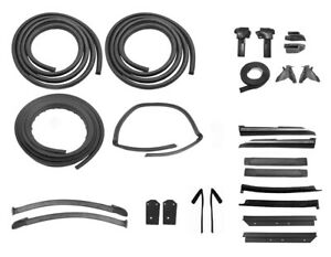 1983 1984 Mustang Convertible Weatherstrip Rubber Seal 25pc Kit Ford Licensed