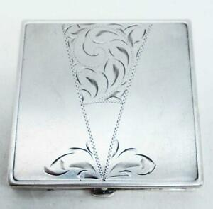 Vintage Sterling Silver Compact Mirror