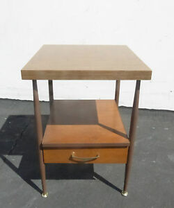 Vintage Danish Mid Century Modern Two Tier Side End Table Use As Nightstand