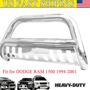 3 front Stainless Bull Bar Grille Guard For Dodge Ram 1500 1994 2001 Polished