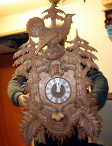 Majestic Old Cuckoo Wall Clock Black Forest Regula 7 Days Cuckoo Clock 81 Cm
