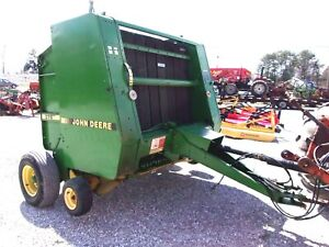 John Deere 375 Round Baler bale Size 5x4 Can Ship 1 85 Loaded Mile