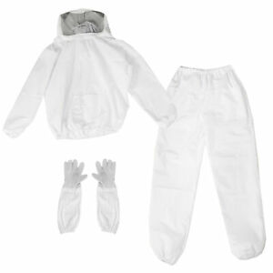 Vivo Large Beekeeping Jacket With Veil Hood Pants And Gloves Combo Set
