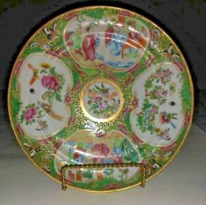 Late Qing Chinese Export Porcelain Rose Medallion Plate