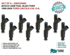 Bosch Oem Fuel Injectors 8x For 1999 2004 Lincoln Navigator 5 4l 0280155865