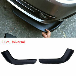 2pcs Universal Vehicle Car Front Bumper Lip Spoiler Splitter Scratch Protector