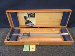 Brown Sharpe B s Super Vernier Height Gage 586 Precision Caliper Cnc Tool 25