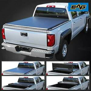 Eag 5ft 60 Short Truck Bed Tri Fold Tonneau Cover For 05 15 Nissan Frontier