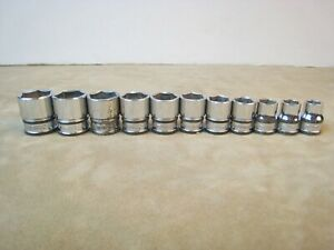 Nice Snap On Tools 3 8 Drive Metric 6 Point Shallow 11 Piece Socket Set 9 19mm