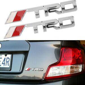 Pair 6 Trd Nameplate Chrome For Toyota Racing Development Tundra Tacoma 4runner