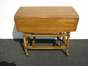 Vintage Drop Leaf Table With One Drawer By Rapids Furniture Company