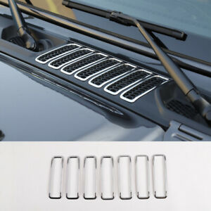Chrome Abs Air Inlet Vent Cover Trim For 2018 Jeep Wrangler Jl 7pcs Accessories