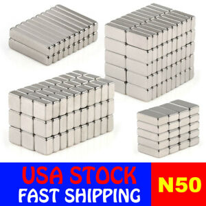 N50 Block Cuboid Rare Earth Neodymium Mini Fridge Strong Magnets Various Sizes