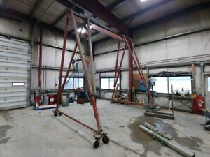 Wallace 5 Ton Tri adjustable Portable Gantry Crane 5t19 15 W Hoist And Trolley