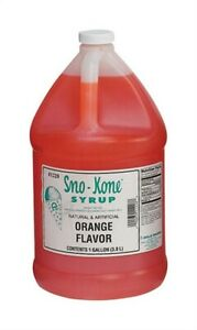 Gal Org Sno cone Syrup no 1228 Gold Medal Products Co pk4