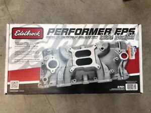 Brand New Edelbrock 2701 Performer Eps Sbc 350 Small Block Chevy Intake Manifold