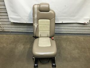 2003 2013 Navigator Ford Expedition Second 2nd Row Middle Jump Seat Tan Leather