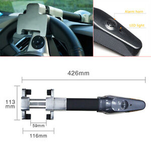 Auto Steering Wheel Lock Universal Security Anti Theft Safety Alarm Lock System