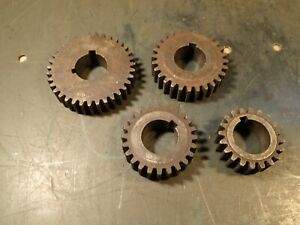 4 piece Lot Lathe Change Gears 1 1 8 Keyed Bore 3 4 Thick 20 24 28 35 Tooth