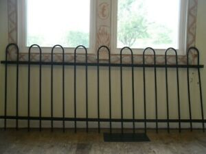2 Wrought Iron Fence Sections Yard Garden Architectural Antique Collectibles