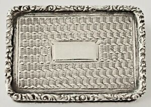 19th Century Antique Sterling Silver Vinaigrette Taylor Perry 1839