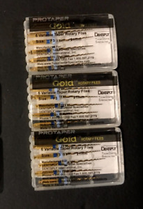 3 X Dentsply Protaper Gold Files Assorted F3 25mm