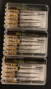 3 X Dentsply Protaper Gold Files Assorted F5 25mm