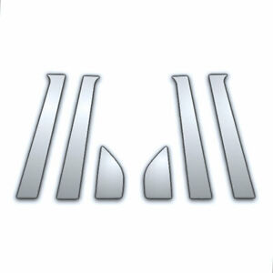 6pc Chrome Pillar Side Covers For 09 16 Chevy Aveo