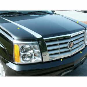 Stainless Hood Accent Trim Fit For 2002 2006 Cadillac Escalade Luxfx2026