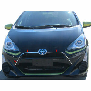Stainless Steel Grille Accent Trim Fit For 2012 2017 Toyota Prius C Luxfx2624