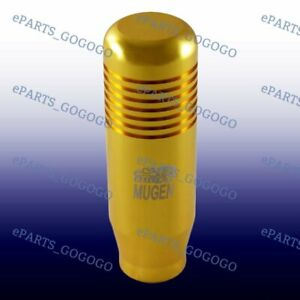 New Gold Mt Manual Jdm Mugen Shift Knob For Honda Rsx Civic Type R S2000 8cm