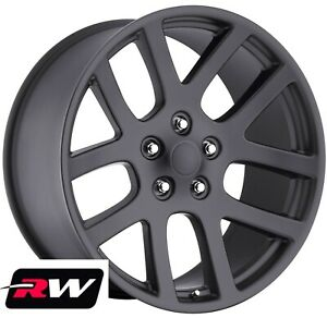 Chrysler 300 Oe Replica Wheels Viper 22 X9 Inch Matte Black Rims 5x115 18