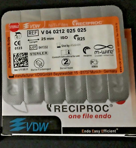 Vdw Reciproc Sterille File Endo M wire 25mm R50 6pcs pack Niti files