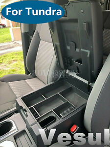 Fit For Toyota Tundra 14 2019 Armrest Center Console Organizer Storage Box Tray
