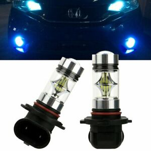 Pair H10 9005 Hb3 100w Cree 8000k Ice Blue Led Headlight Fog Light Driving Bulbs