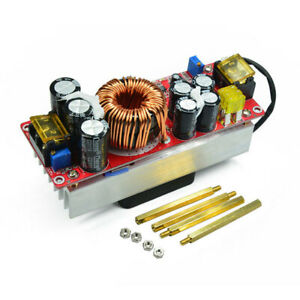 1500w 30a Dc dc Step Up Boost Converter 10 60v To 12 90v In 10 60v Out 12 90v