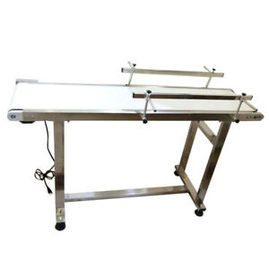 110v 60w 1 35m 53 Pvc Electric Conveyor With Double Guardrail Speed Adjustable