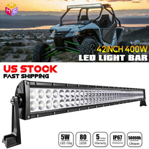 42inch 560w Curved Led Work Light Bar Combo Driving Offroad Lamp F1 44 40