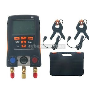 Refrigeration Digital Manifold Meter Kit For Testo 550 0563 1550 Clamp Probes