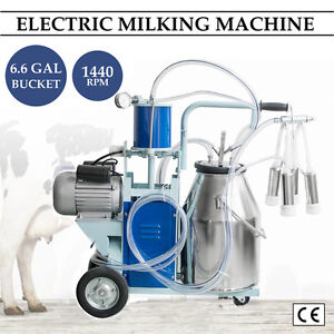 Electric Milking Machine For Goat Sheep cattle Cow W milker Bucket 12cows hour