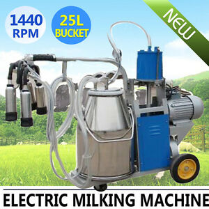 Electric Milking Machine Bucket Barrel For Farm Cows Durable 304 Stainless Steel