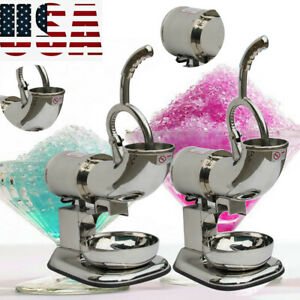 Electric Ice Shaver Machine Snow Cone Maker 440lbs Ice Crusher Shaving Device Us