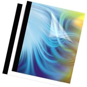 Fellowes Binding Thermal Presentation Covers 1 2 Inch Black 10 Folders Up To