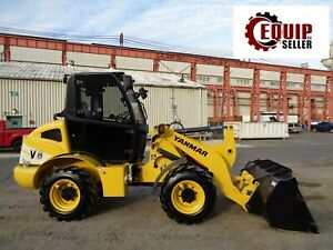 New Yanmar V8 Wheel Loader Skid Steer Diesel Enclosed Cab Forks