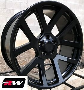 22 X9 Inch Rw Wheels For Chrysler 300 Gloss Black Viper Style Rims 5x115 18