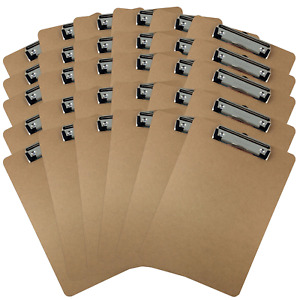 Trade Quest Letter Size Clipboard Low Profile Clip Hardboard Pack Of 30